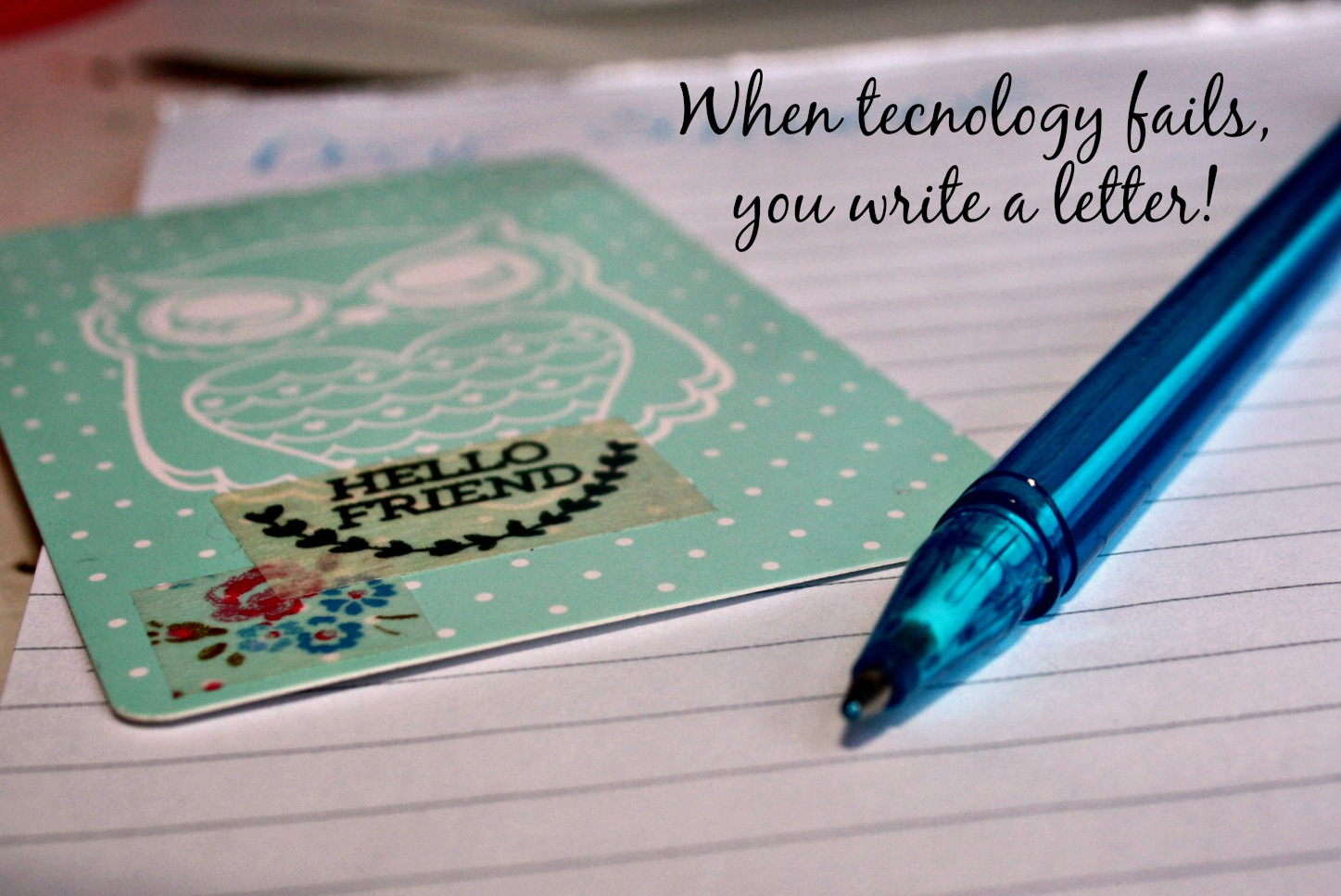 When technology fails, you write a letter. harassedmom.co.za