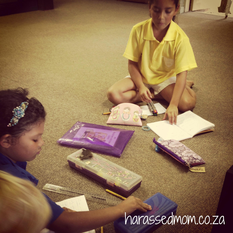 Kiara doing homework