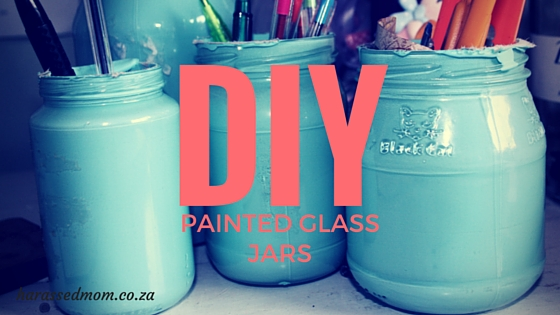 DIY How to paint glass jars (1)