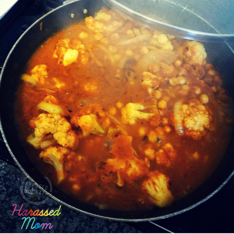 Cauliflower and Chickpea Curry|HarassedMom