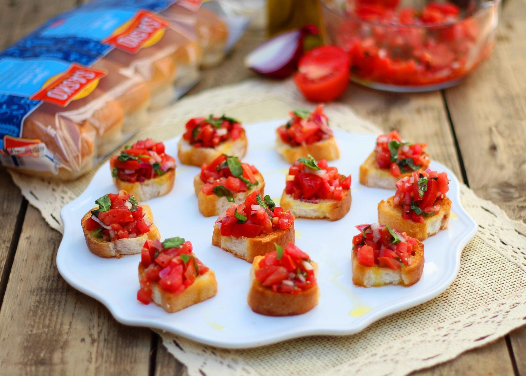 Tomato Bruschetta|Harassedmom