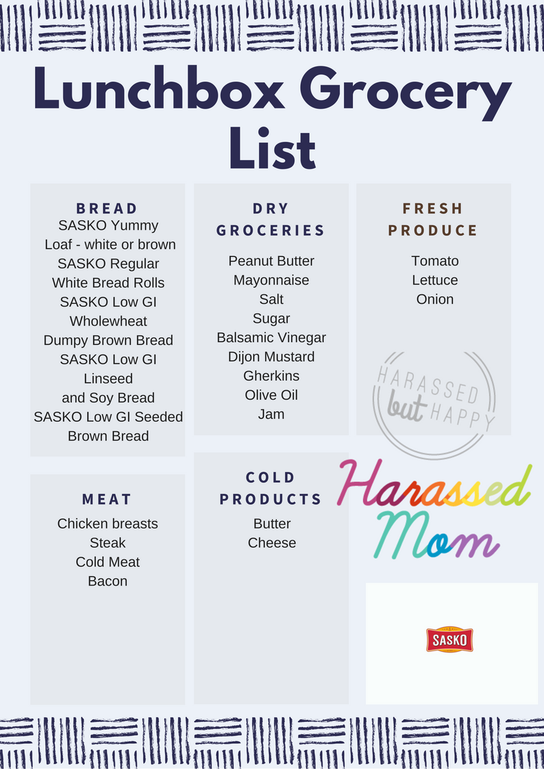 Shopping List SASKO|HarassedMom