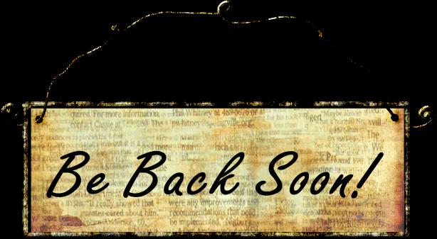 Blog Break Sign