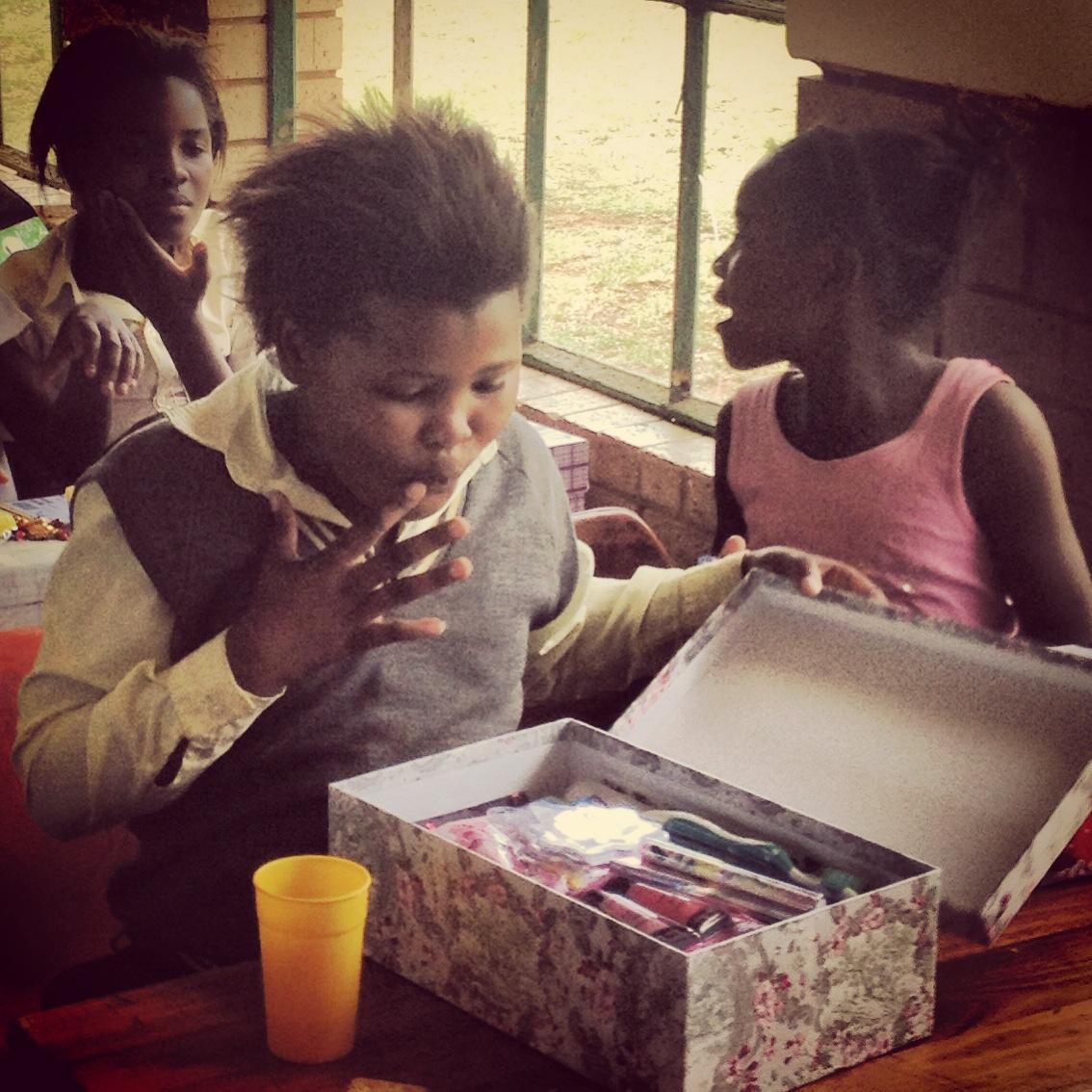 Giving Back - Santashoebox Project|HarassedMom