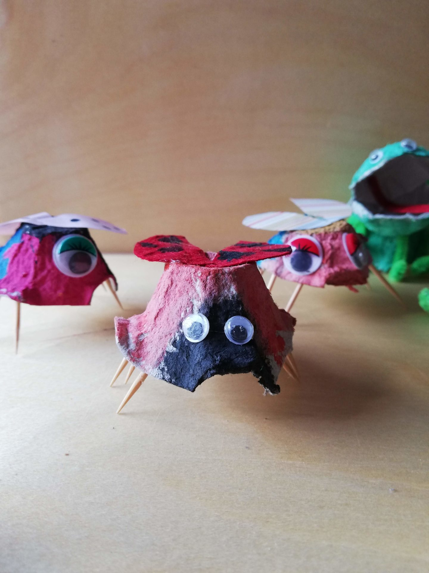 Up-cycled Animals From Egg Cartons | HarassedMom
