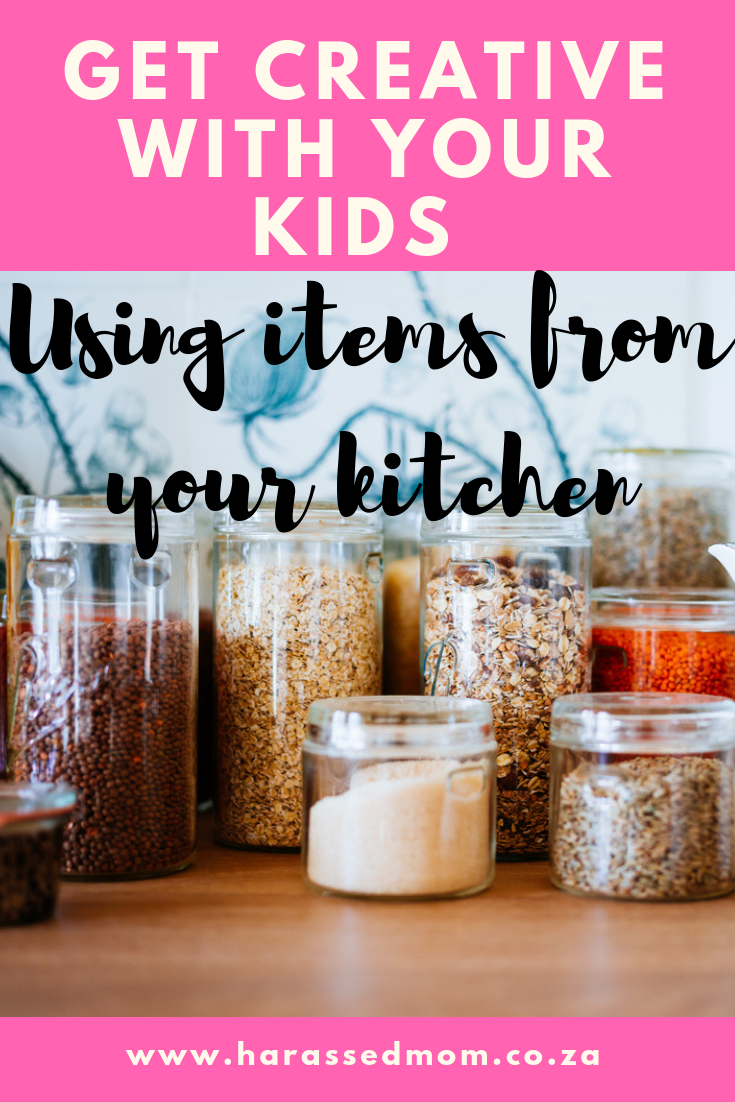 Get creative with your kids using items from your kitchen | HarassedMom