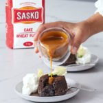 Salted caramel chocolate soufflé